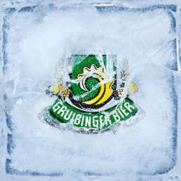 Gruibinger Bier Logo Saukalt Eis KREAVIS