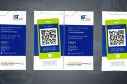 Gestaltung der Einladungskarte für die Hausmesse der IST Metz GmbH