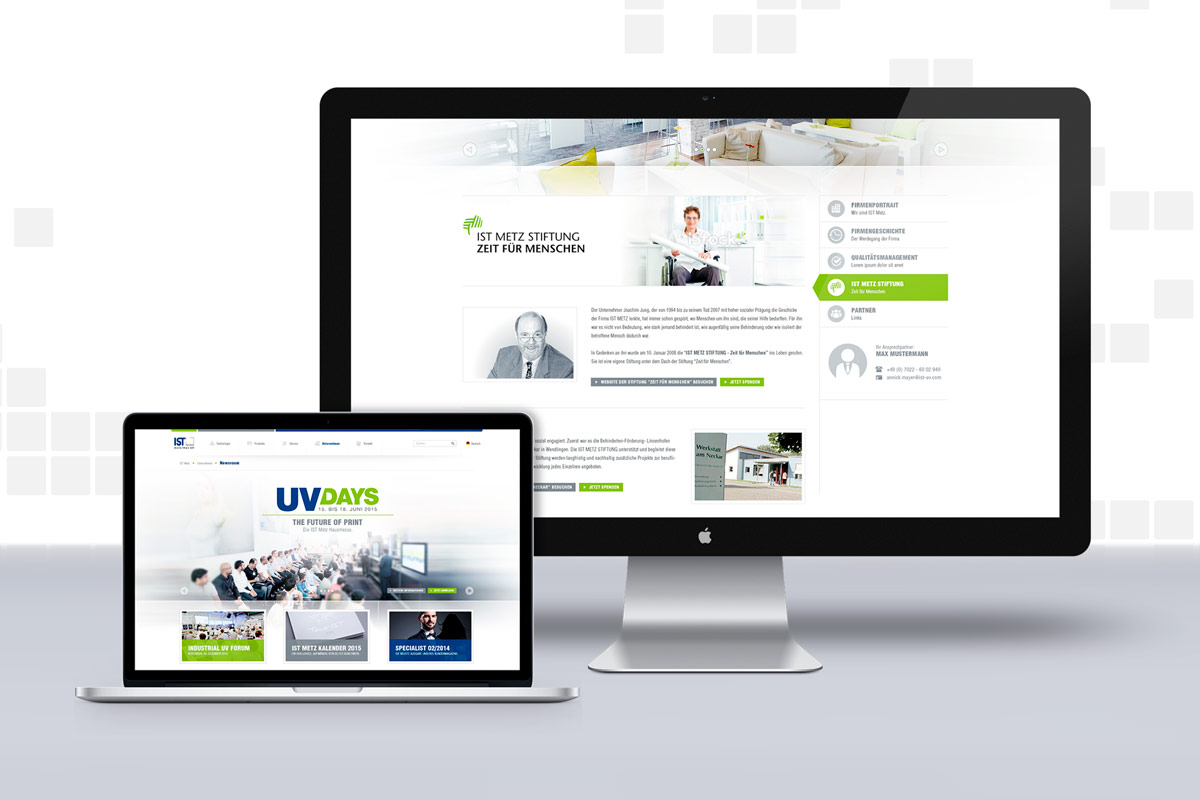 Responsive Webdesign IST Metz Werbeagentur Wendlingen