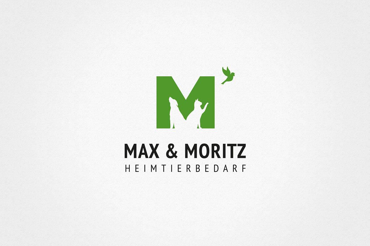 Max und Moritz Katze Hund Tierbedarf Logo Herleitung