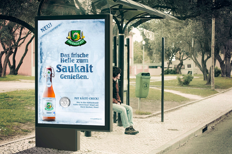 Gruibinger Bier Poster Design KREAVIS Werbeagentur Wendlingen