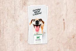 Flyer Layout Heimtierbedarf Max & Moritz – Werbeagentur Wendlingen