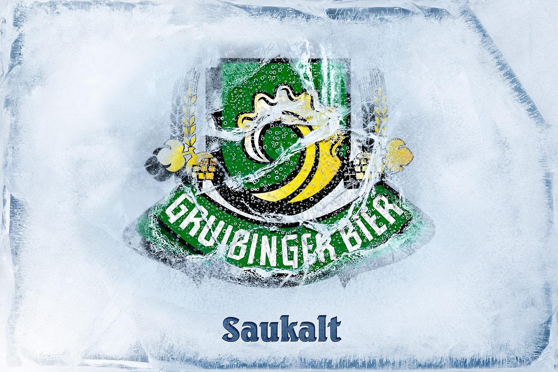 Gruibinger Bier Saukalt Packaging Design KREAVIS Werbeagentur Wendlingen